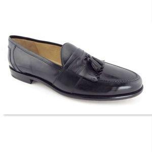 New JOHNSTON&MURPHY Black Fringe Tassel Loafers 16